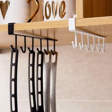 Load image into Gallery viewer, 6-Hooks Iron Cabinet Storage Rack