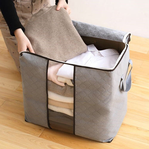 Non-woven Fabric Folding Clothes Storage Bag