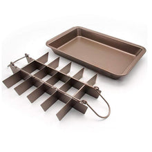Load image into Gallery viewer, 18-Grids Carbon Steel Brownie Baking Tray