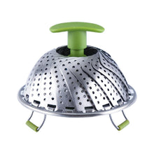 Load image into Gallery viewer, 11 Inch Stainless Steel Folding Vegetable Steamer Basket