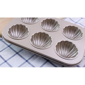 6/9/12-Cups Nonstick Madeleine Pan Cake Mold