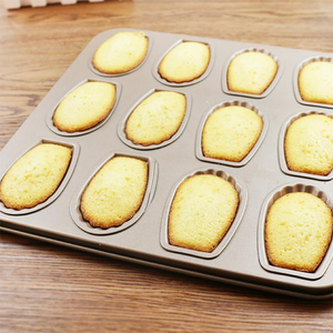 12-Grids Carbon Steel Madeleine Mold Pan
