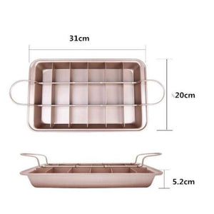 18-Grids Carbon Steel Brownie Baking Tray