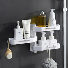 Load image into Gallery viewer, 3-Layers Triangular Rotating Bathroom Wall Hanging Shelf