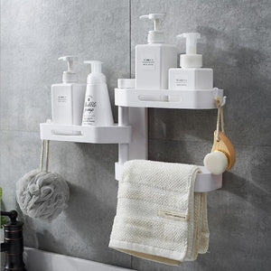 3-Layers Triangular Rotating Bathroom Wall Hanging Shelf
