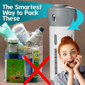 4-in-1 Travel  Portable Leakproof Rotatable Bottles