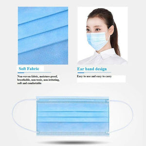 50pcs Disposable Face Mouth M-Ask 3-Ply Loop R Espirator Dental Dustproof