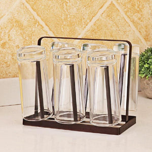 Iron Metal Upside-down Drink Cup Drain Rack