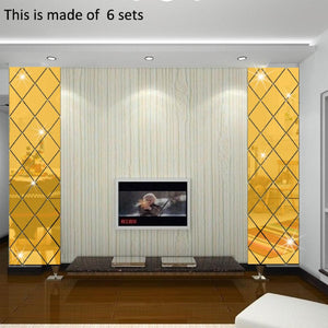 13Pcs/Set 3D DIY Mirror Wall Stickers