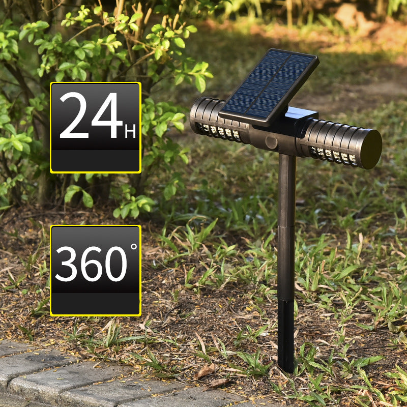 Solar Mosquito Killer Lamp Outdoor IPX5 Waterproof Garden Lamp Villa Outdoor Mosquito Trap Lawn Lamp Ground Plug