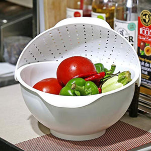 Three-in-one Rotate Fruit Salad Basket Plate