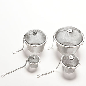 Practical Tea Ball Spice Strainer Mesh Infuser Filter Stainless Steel Herbal New