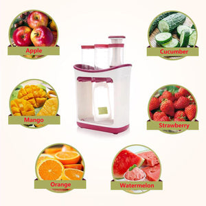 Baby Puree Maker With 10 One-off Squeeze Pouches