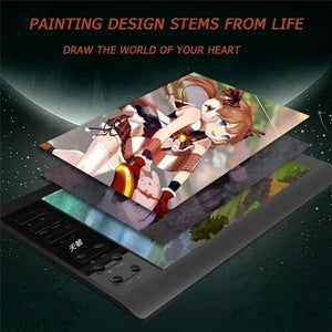 10*6'' Digital Drawing Tablet 233 Point Quick Reading Pressure Sensing Universal