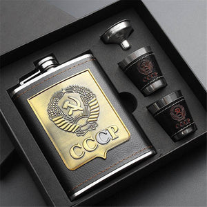 Stainless Steel Liquor Hip Flask Set
