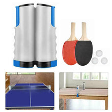 Load image into Gallery viewer, Instant Table Tennis Kit Ping Pong Set & Retractable Net 2 Bats Portable 3 Balls