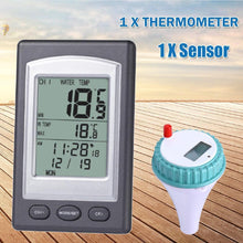 Load image into Gallery viewer, Wireless Remote Floating Thermometer Swimming Pool Waterproof Hot Tub Pond Spa