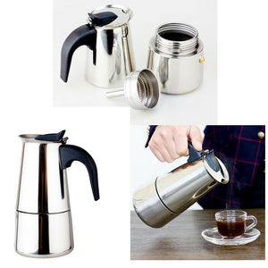 100/200/300ml Stainless Steel Coffee Stove