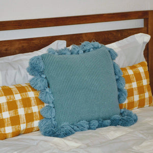 Knit Tasseled Pillow Cover