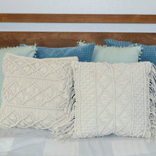 Load image into Gallery viewer, Natural Macrame Pillow Cover