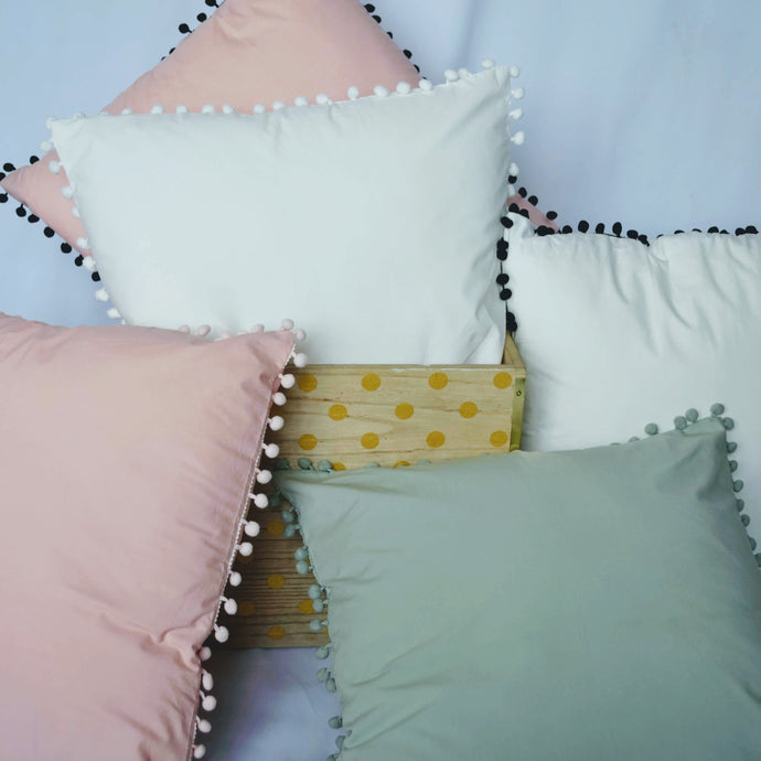 Sweet Pom Tassel Pillow Covers