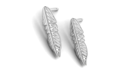 Feather Post Earrings