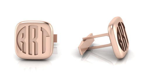 Image of two monogrammed cuff links