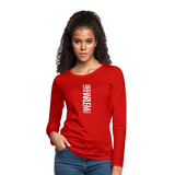 I AM HARLEM Women's Premium Long Sleeve T-Shirt - red