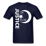 JUSTICE OR ELSE T SHIRT - navy