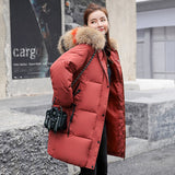 Women ladies Fashion Cotton  Parkas