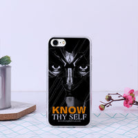 KNOW THY SELF Bumper Soft and Premium Flexible  Cover Case for iPhone 7 /iPhone 8
