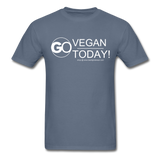 GO Vegan Today T-Shirt - denim