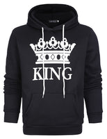 King Queen Printed Sweatshirt  Couples Hoodie