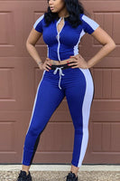BE ORIGINAL Polyester Sexy WORKOUT TWO PIECE SUIT
