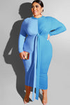 BE ORIGINAL Polyester Sexy O Neck Plus Size Dresses