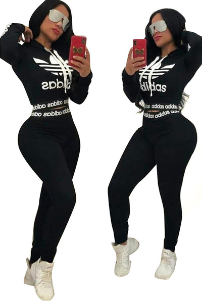Polyester hooded Two Piece adidas Suits