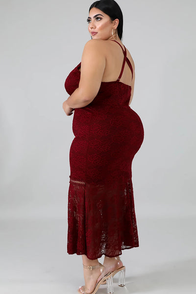 Lace Trim Plus Size Dresses