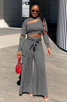 Long Sleeve Two-piece Pants Set