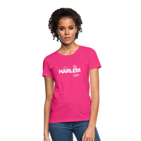 BACKED BY 155 HARLEM WEAR WOMENS  T-Shirt - fuchsia