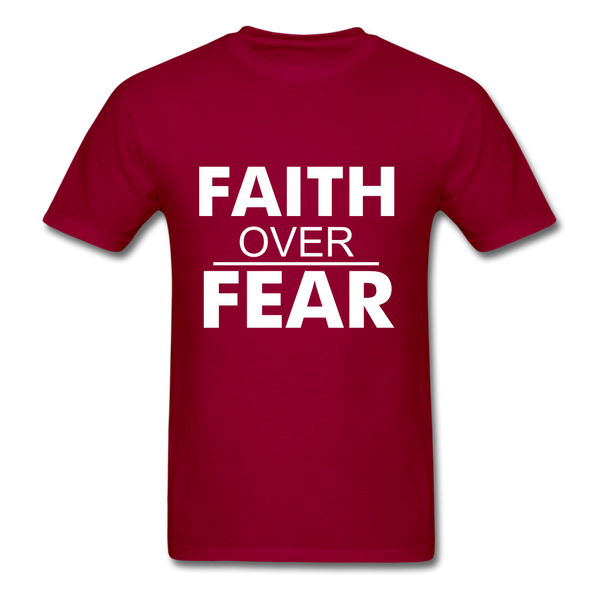 FAITH OVER FEAR T-Shirt - dark red