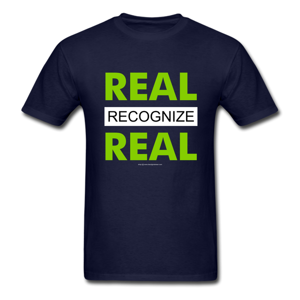 REAL RECOGNIZE REAL T-Shirt - navy
