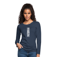 I AM HARLEM Women's Premium Long Sleeve T-Shirt - navy