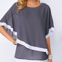Women Blouse Casual Sexy Batwing