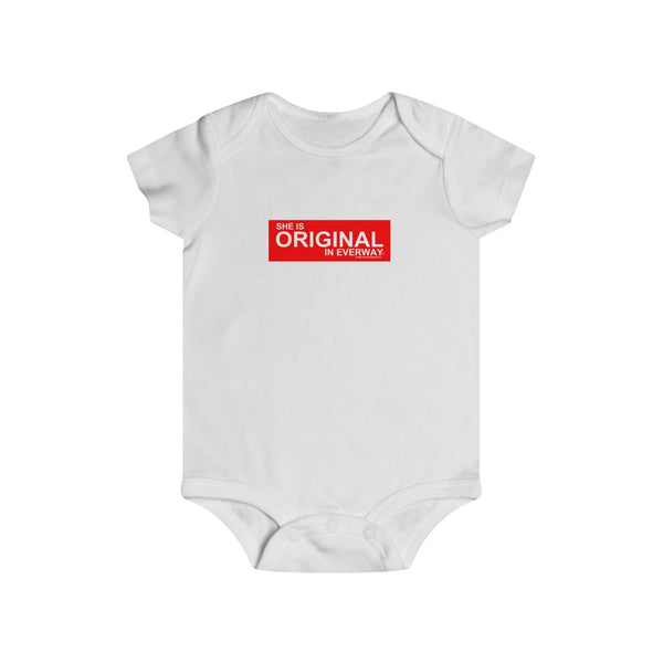 SHE IS ORIGINAL Infant Rip Snap Tee