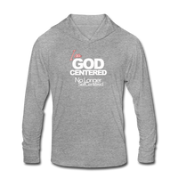 I am God Centered UNISEX Tri-Blend Hoodie Shirt - heather gray