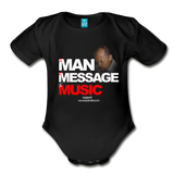 The Man The Message The Music  Short Sleeve Baby Bodysuit - black