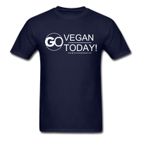 GO Vegan Today T-Shirt - navy