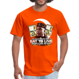 EAT TO LIVE T-Shirt - orange