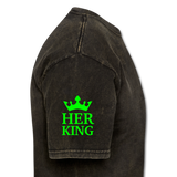 HER KING -Shirt - mineral black