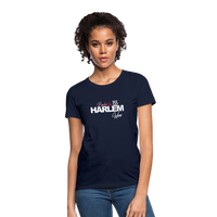 BACKED BY 155 HARLEM WEAR WOMENS  T-Shirt - navy